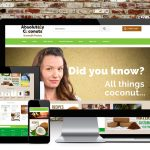Absolutely Coconuts website design, Design Portfolio