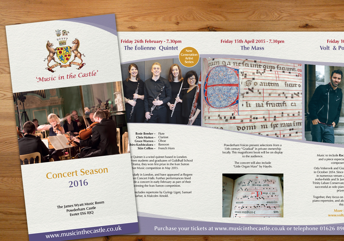 Music in the Castle 2016 leaflet design