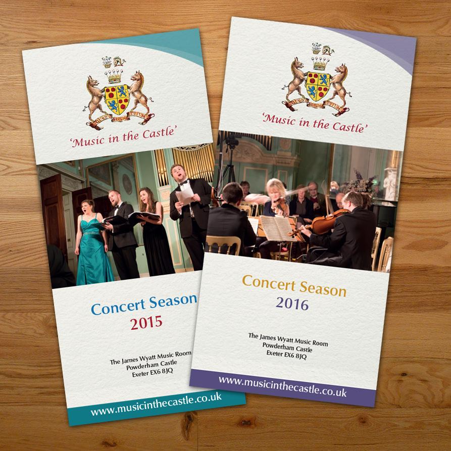 Music in the Castle leaflet cover designs, Design Portfolio