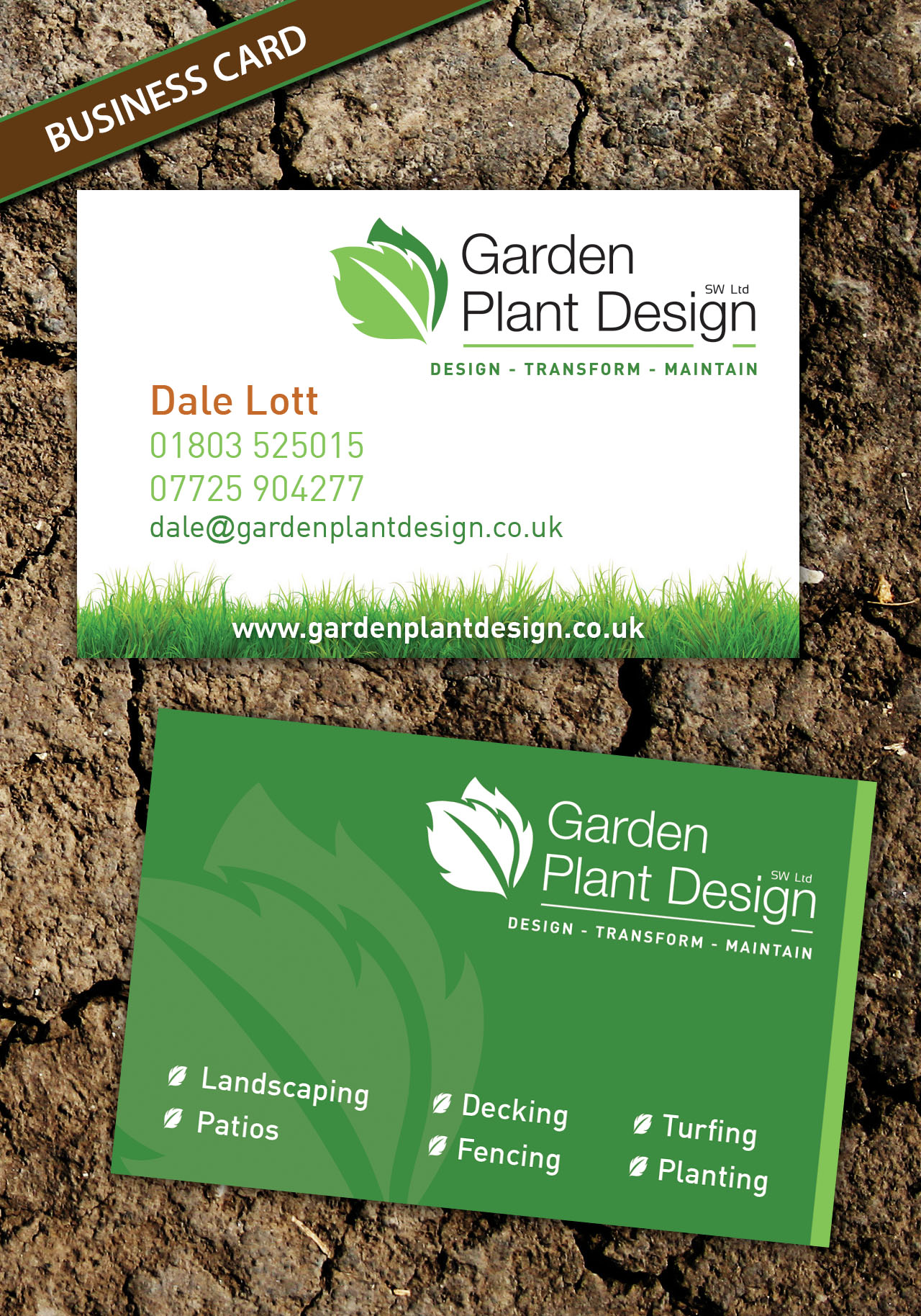 Garden Plant Design - Business Cards Design