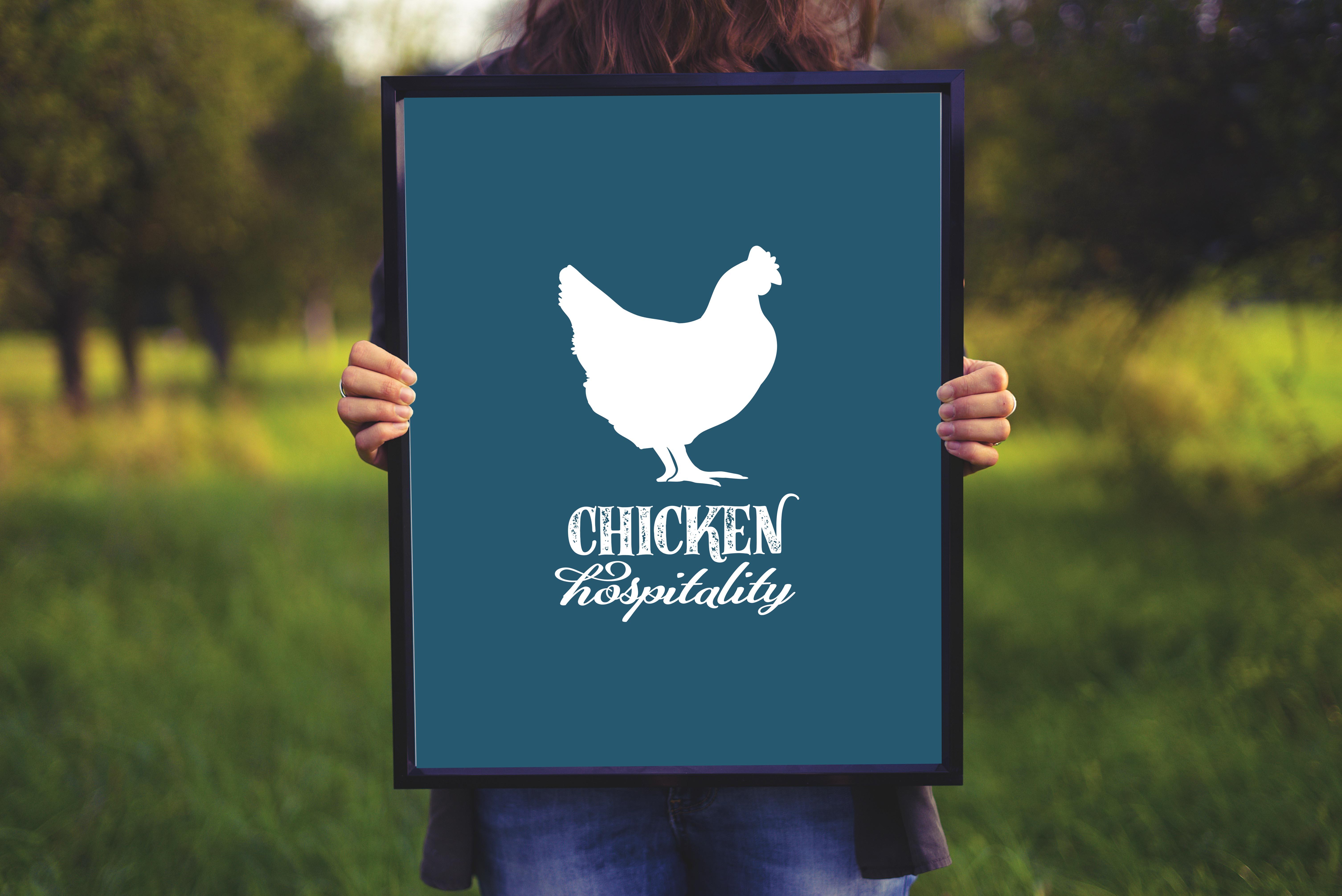 Holding chicken