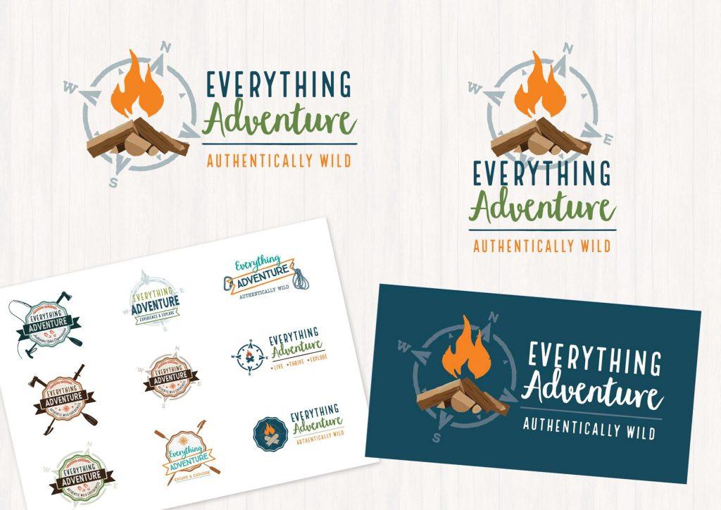 Everything Adventure Logo Branding
