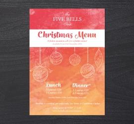 Five Bells Inn: Christmas Menus
