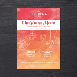 Five Bells Inn: Christmas Menus